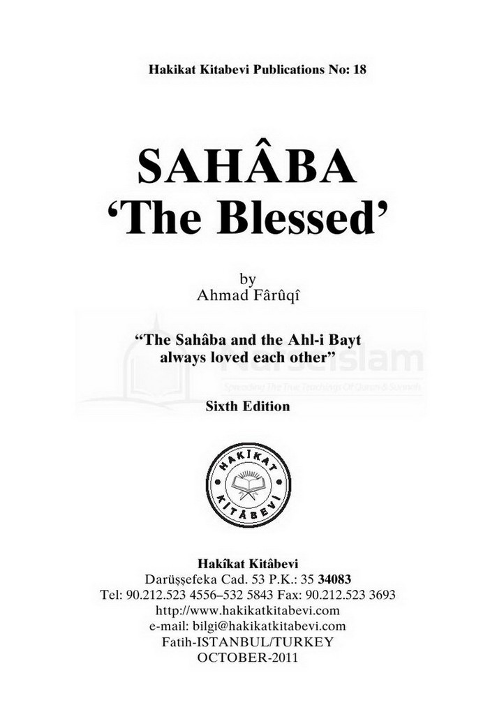 Sahaba The Blessed