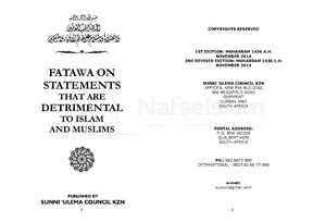 Fatawa On Statements That Are Detrimental To Islam